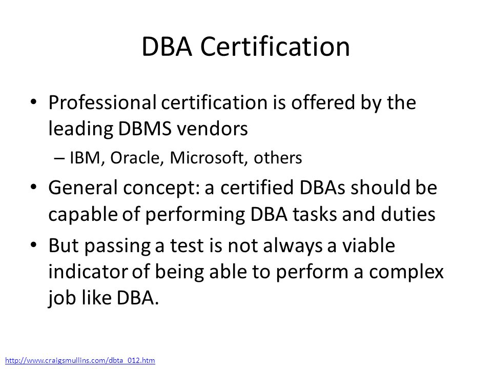 Chapter 1 Introduction What Is A Dba Ppt Download