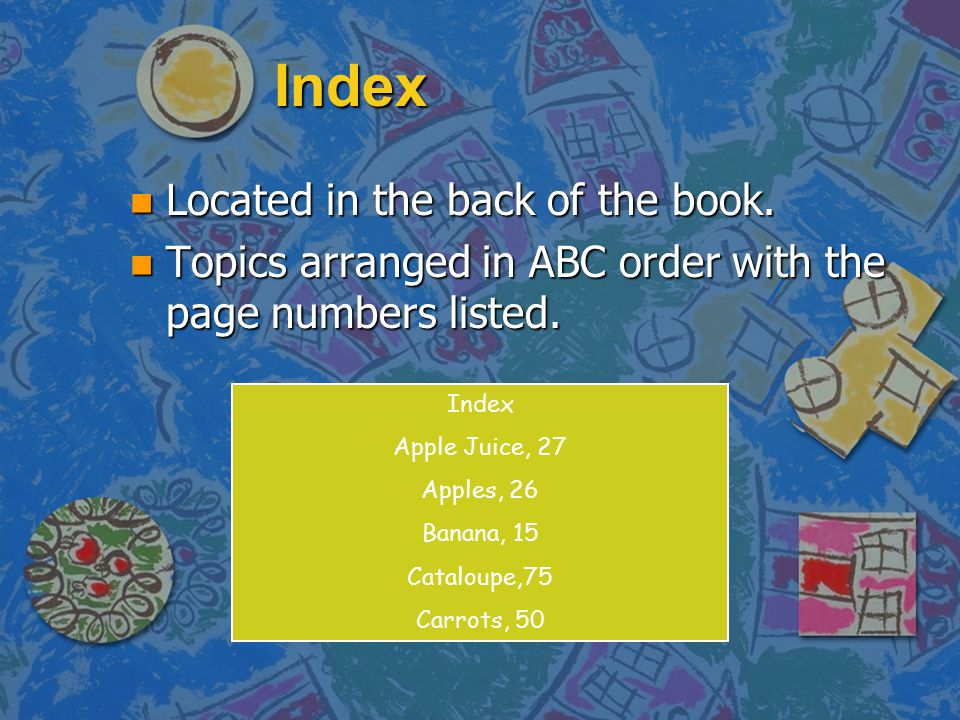 Index Located in the back of the book.
