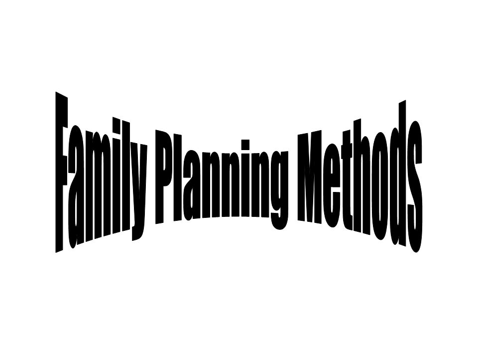 Family Planning Methods