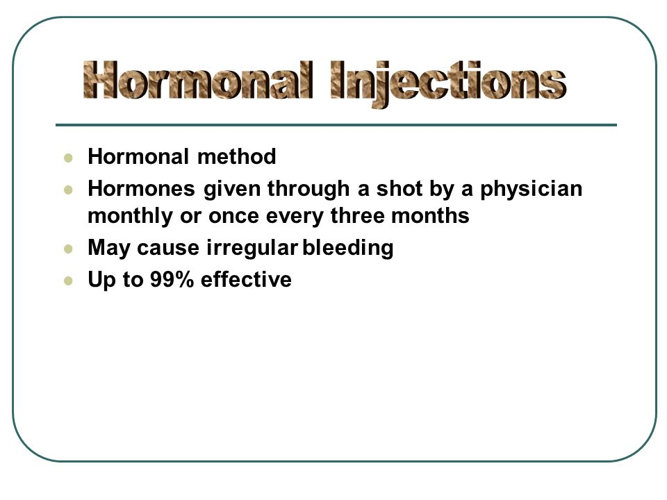 Hormonal Injections Hormonal method