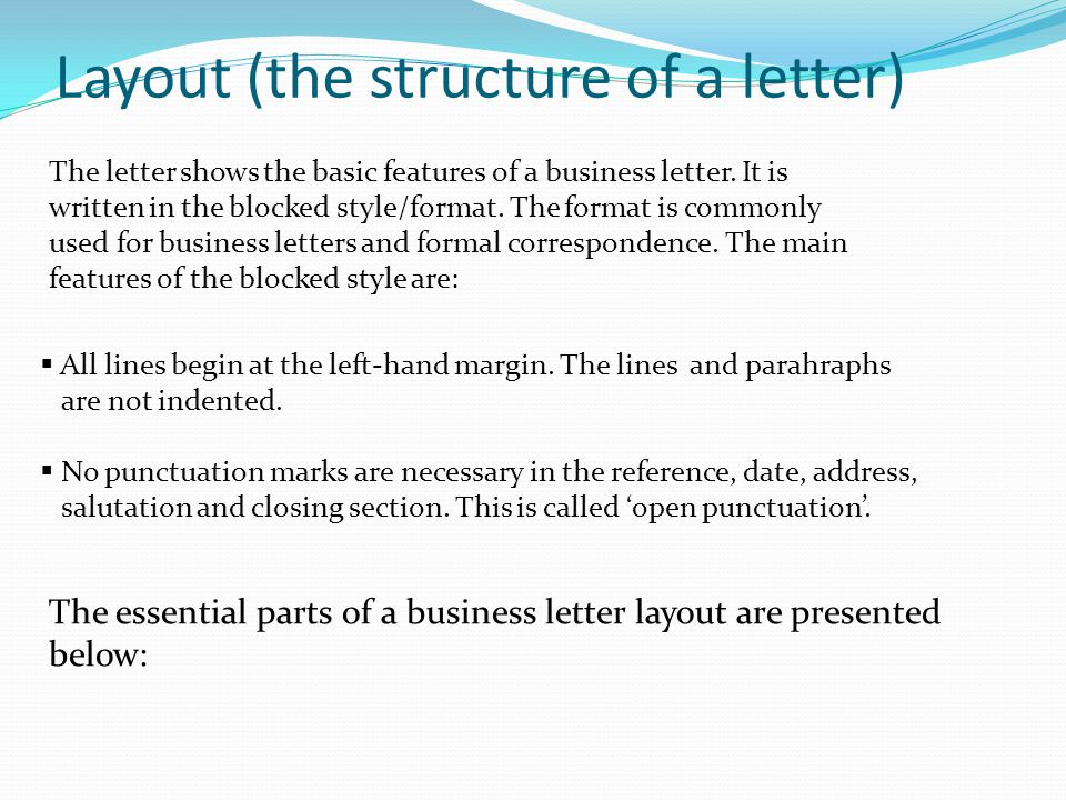 Structure Of A Business Letter from slideplayer.com