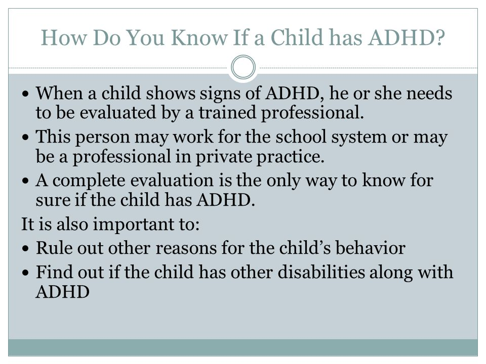 How to know if someone has adhd