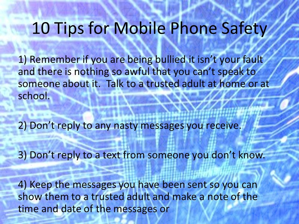 10 Tips for Mobile Phone Safety