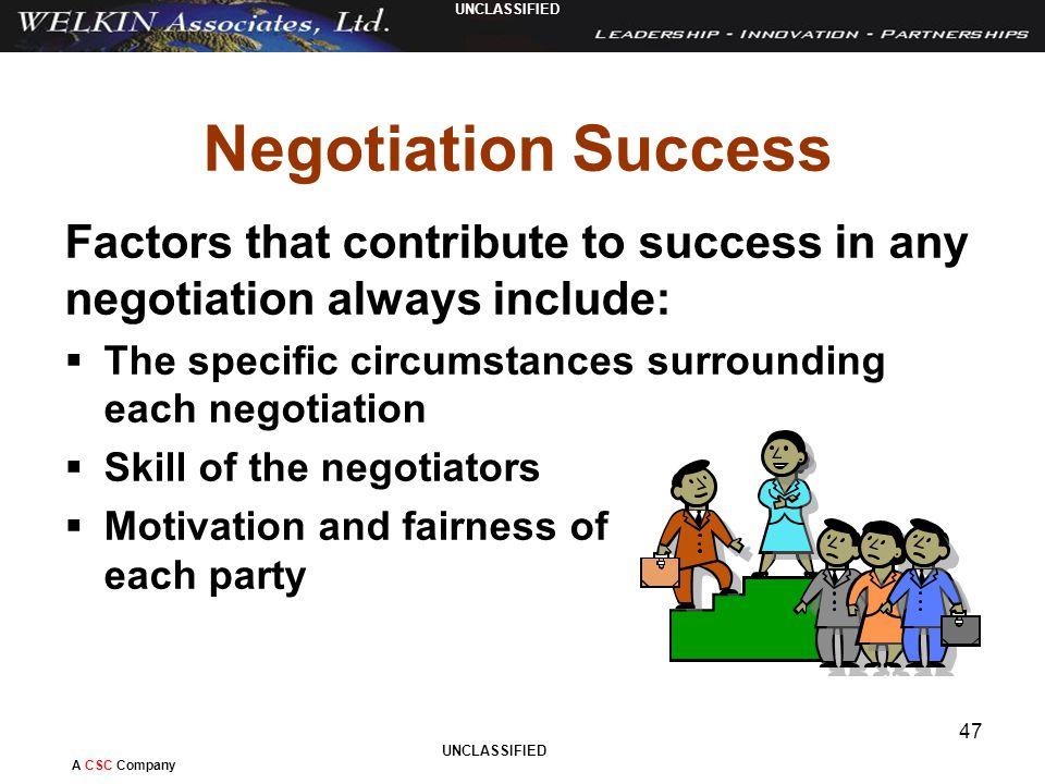factors for successful negotiation