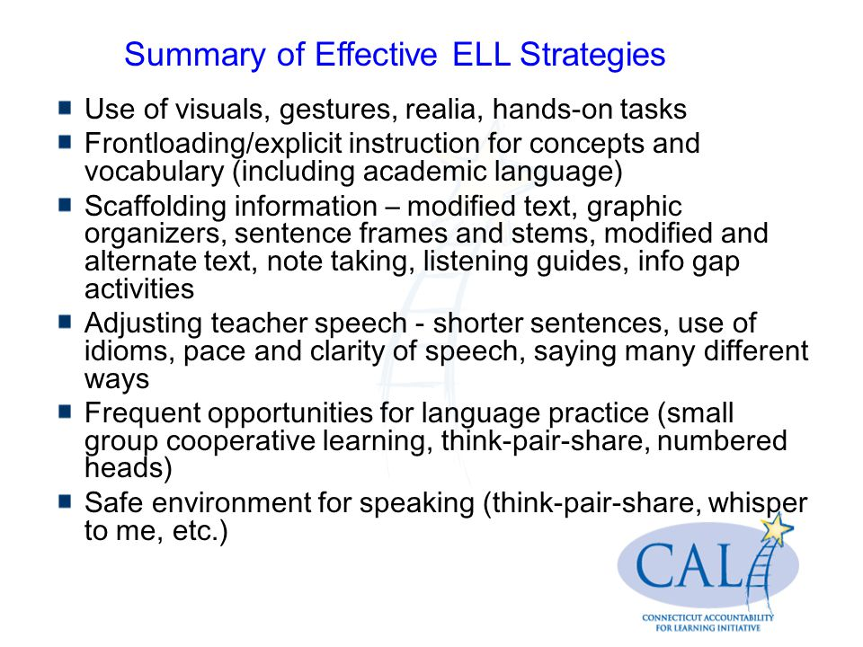 Effective Tier I Instruction For English Language Learners Ells