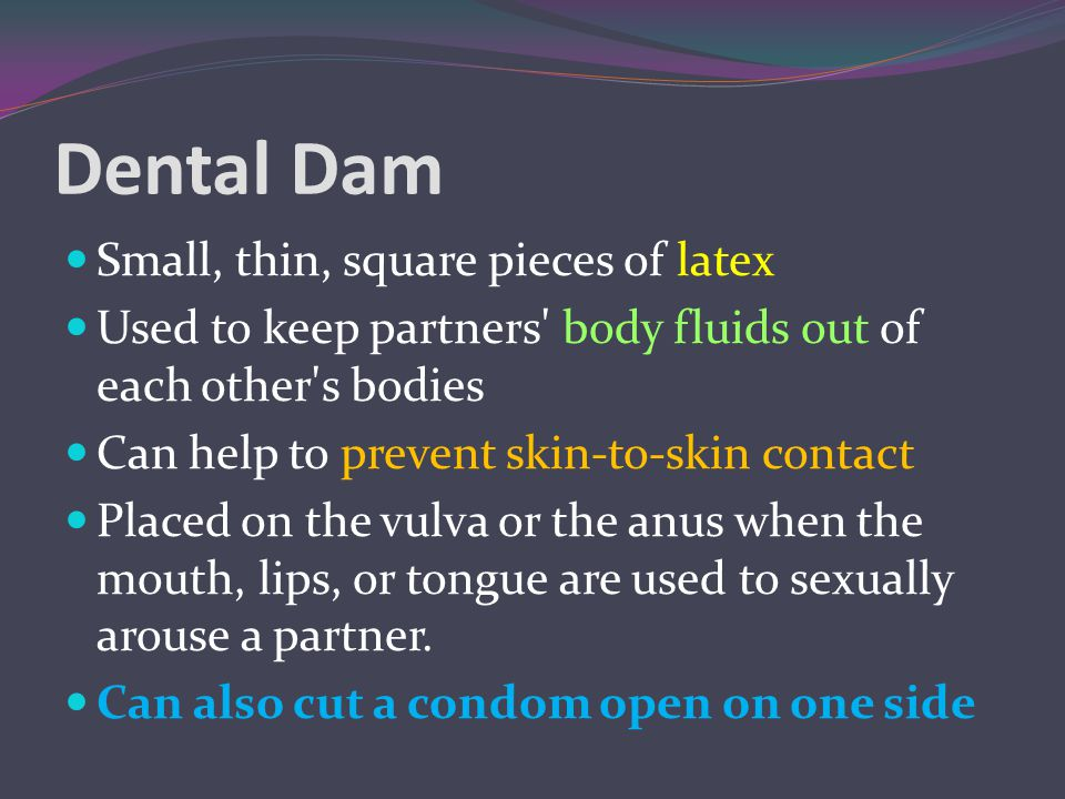Dental Dam Small, thin, square pieces of latex