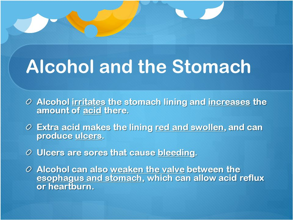 Alcohol and the Stomach