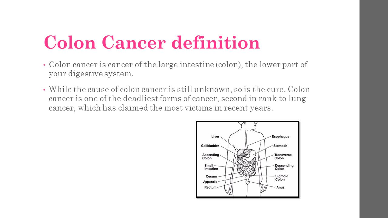 colon cancer by: brittany mares. - ppt download