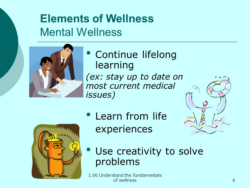 Elements of Wellness Mental Wellness
