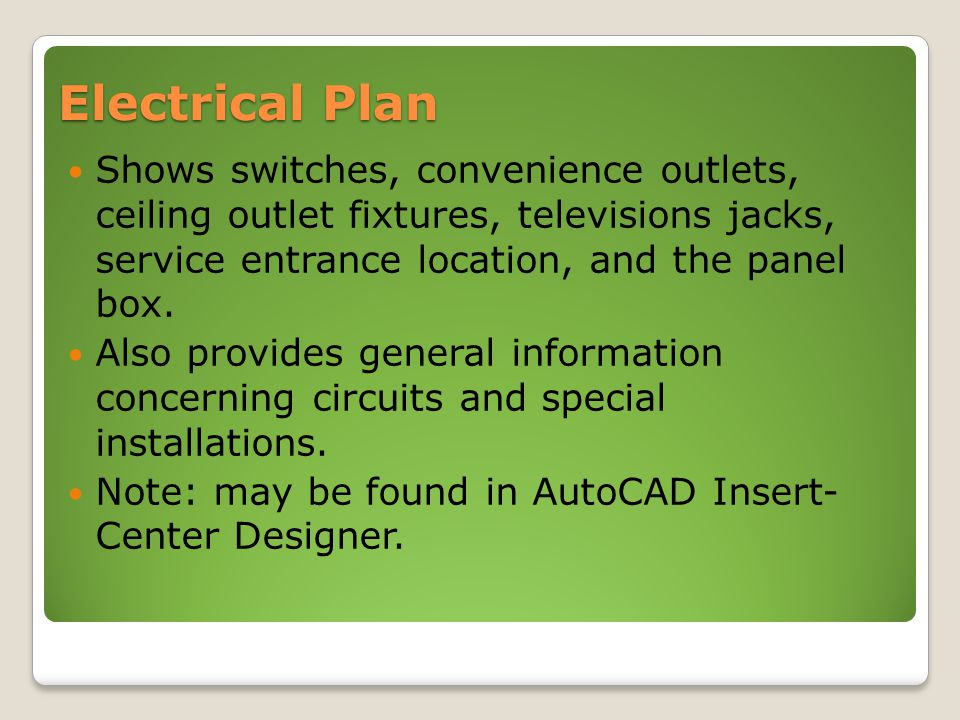 7 set of floor plans primary considerations ppt video online download Electrical Training 19 electrical plan