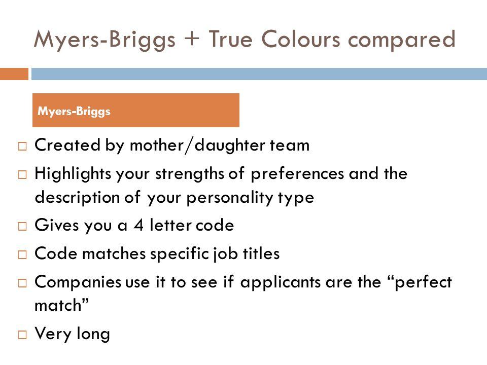 4 Myers-Briggs ...