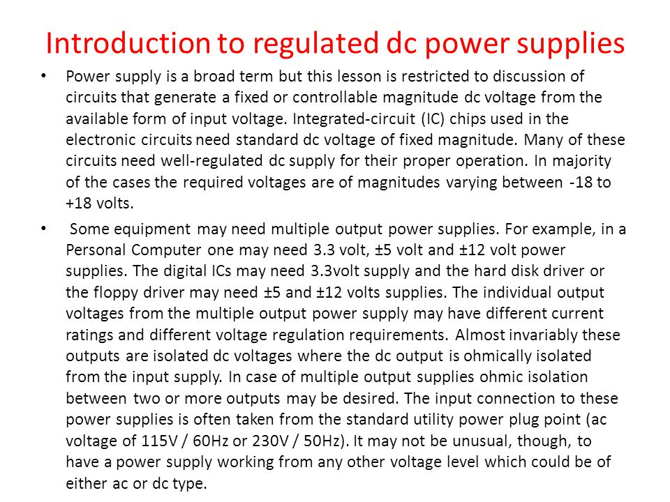 Introduction to Switched-Mode Power Supply (SMPS) Circuits