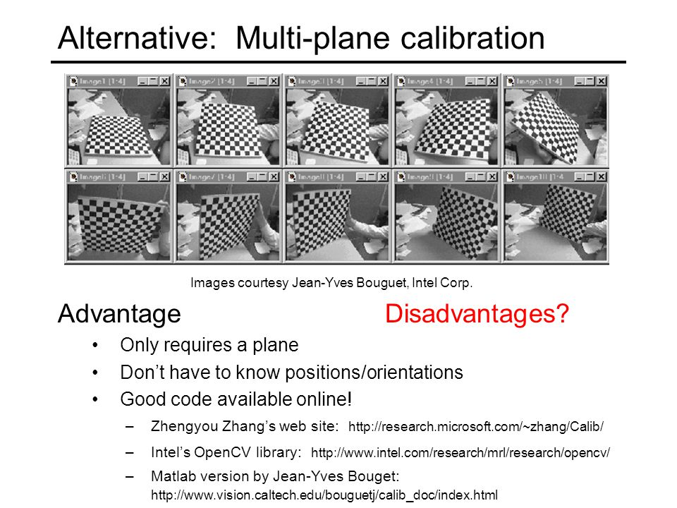 Today: Calibration What are the camera parameters? - ppt