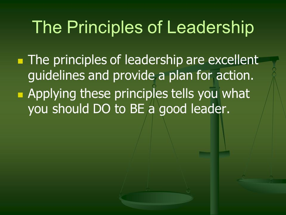 The Principles of Leadership