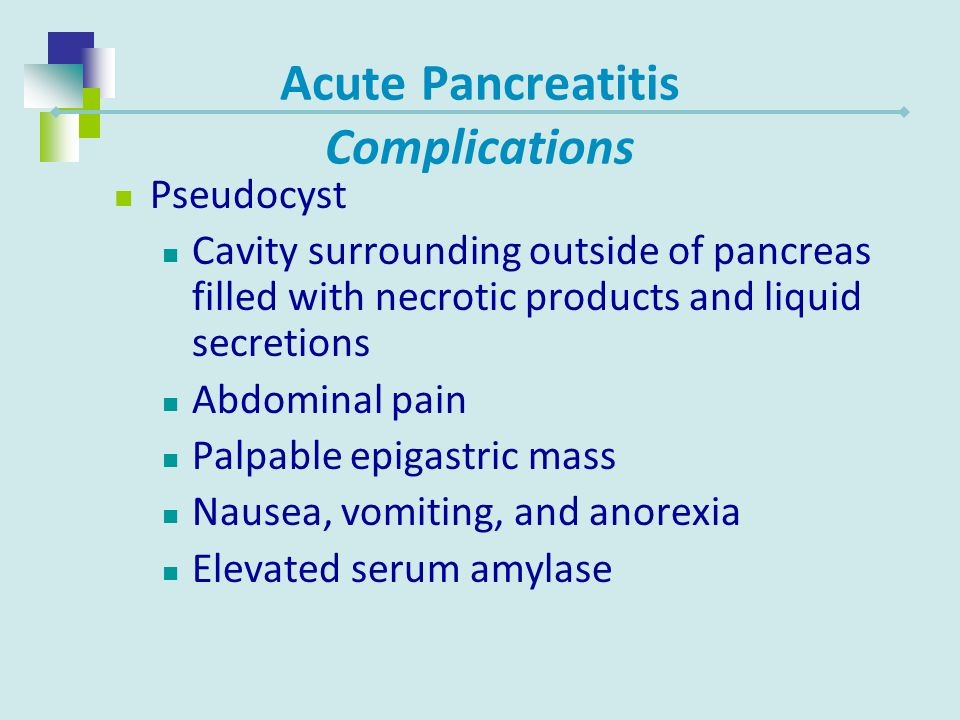Acute Pancreatitis Complications