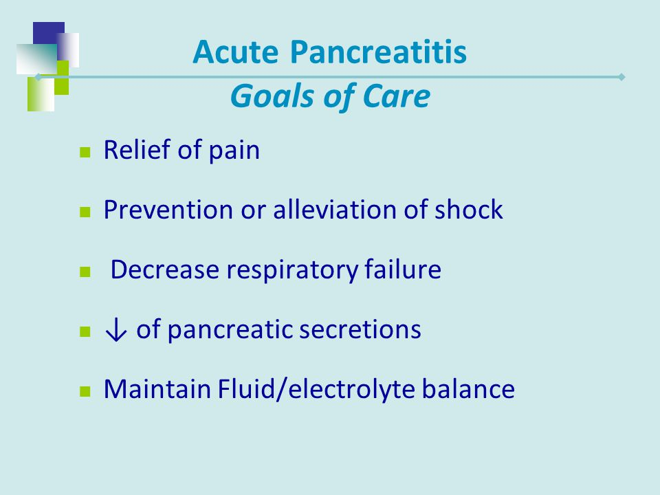 Acute Pancreatitis Goals of Care