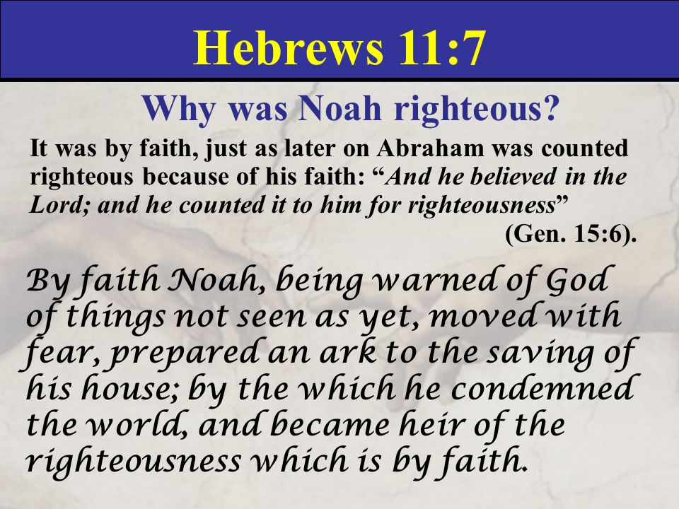 Commentary Hebrews 11:7