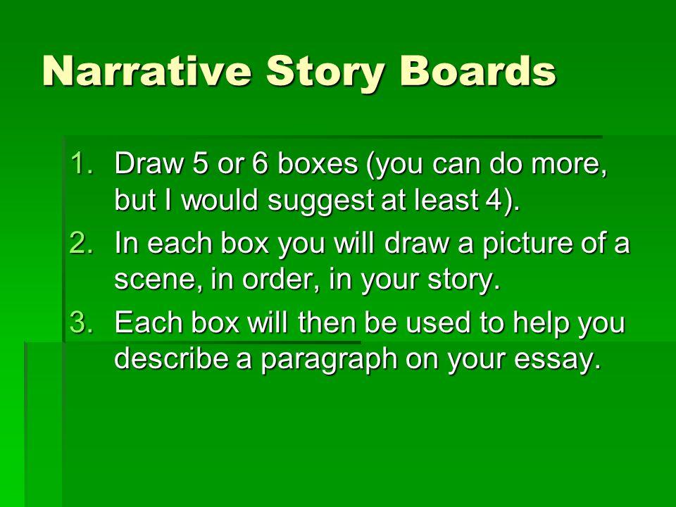 Narrative Story Boards