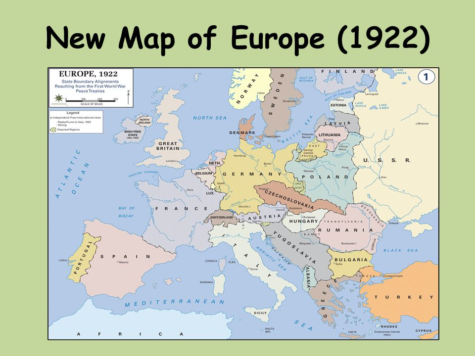 Map Of Europe 1922.20th Century Conflicts Ppt Download