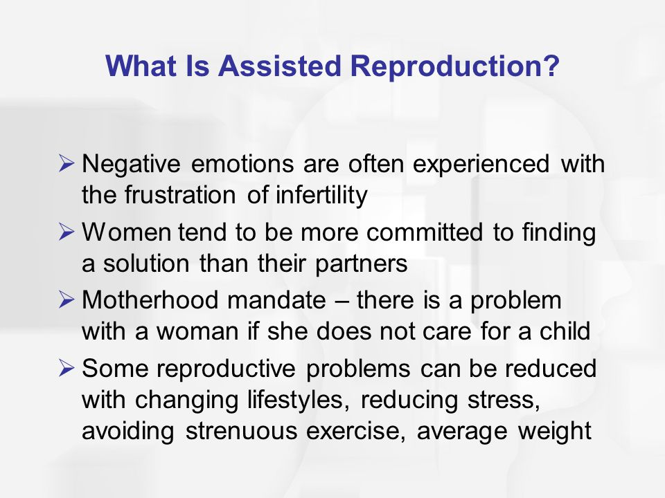The Age of The Male Not Influencing a Pregnancy by Assisted Reproduction