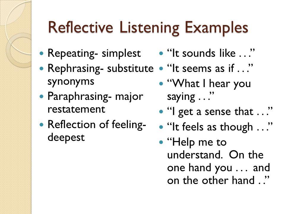 Quiz & worksheet reflective listening techniques | study. Com.