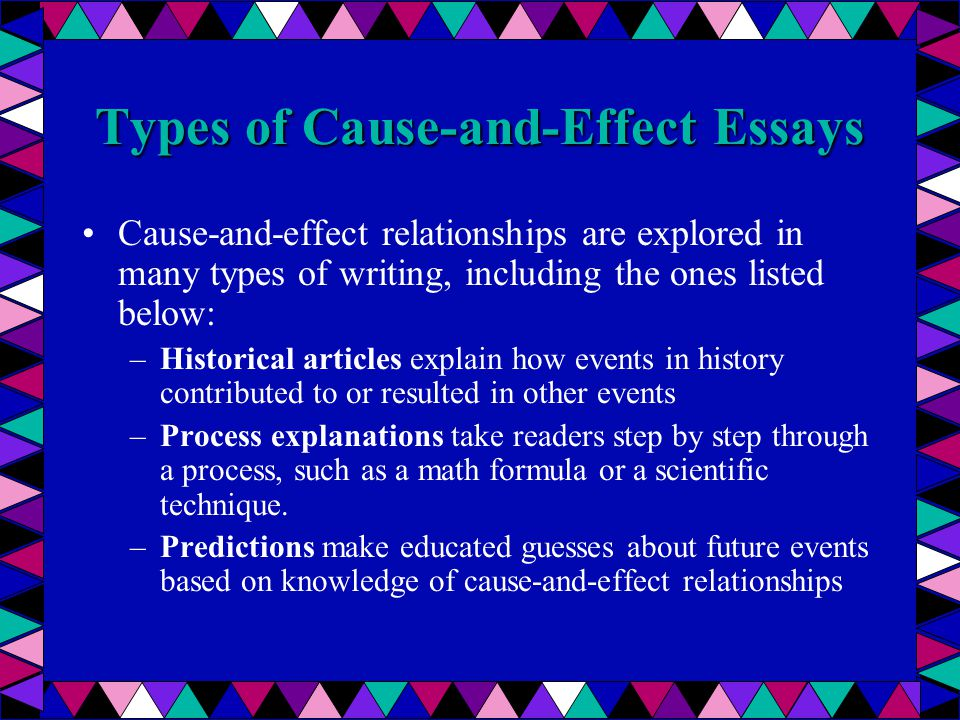 types of cause and effect relationships
