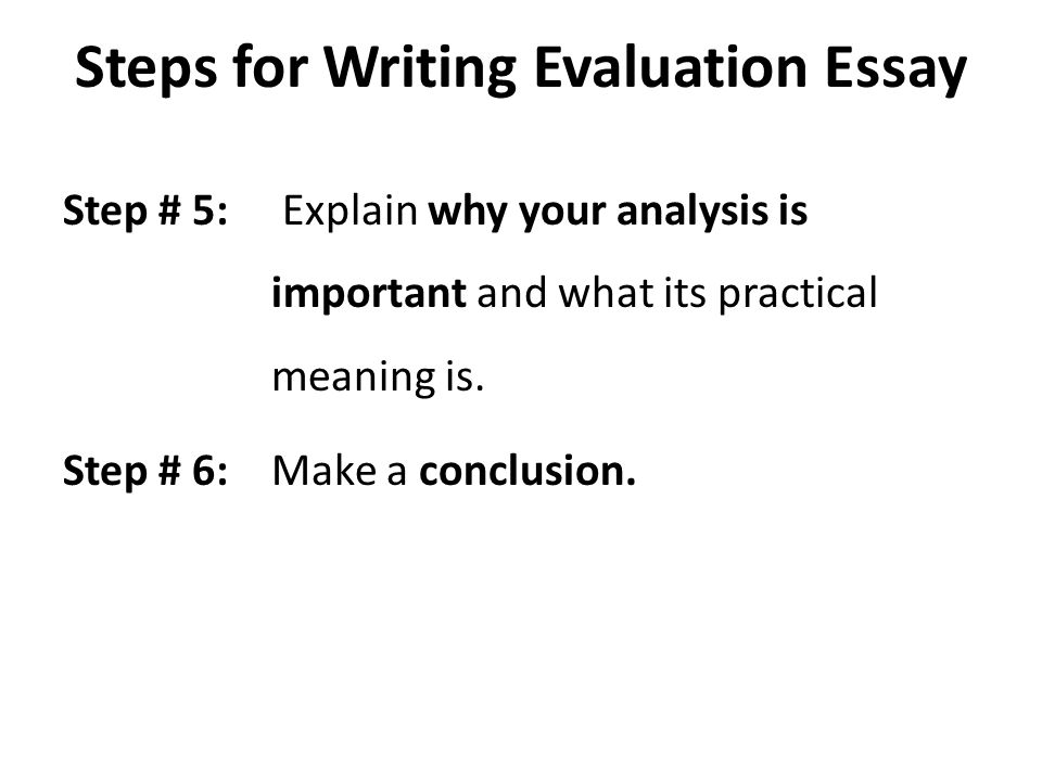 analysis and evaluation essay