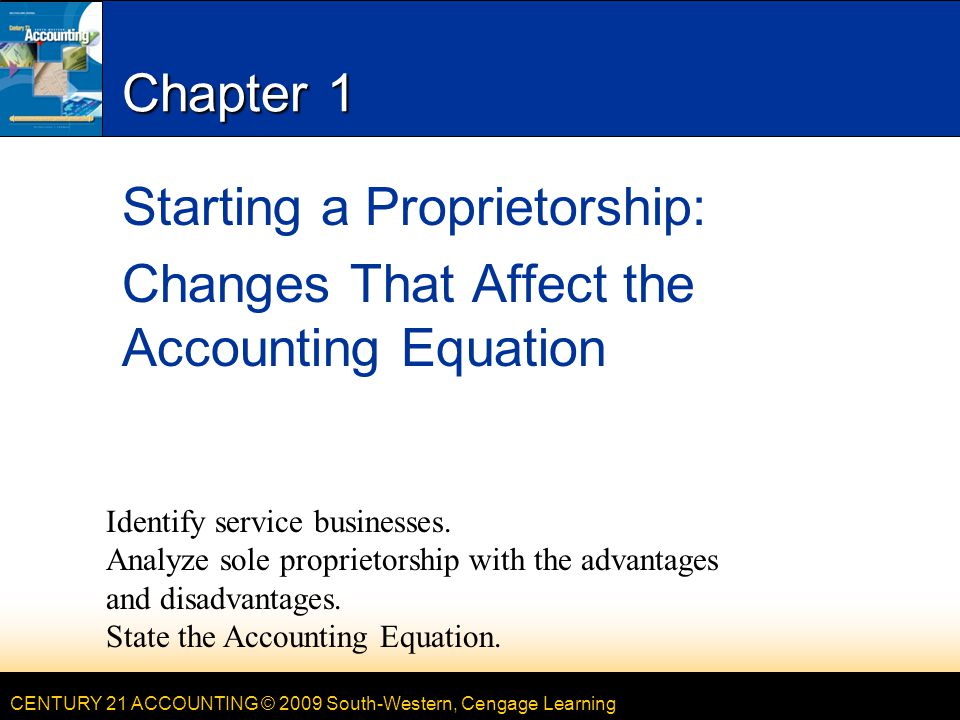 Starting a Proprietorship: Changes That Affect the Accounting Equation