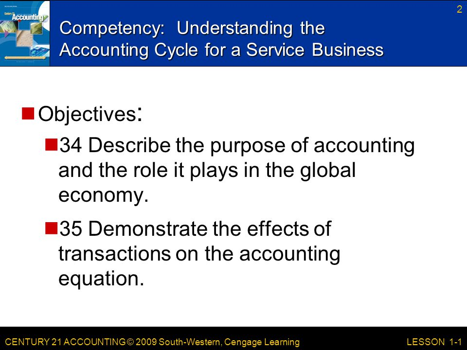 Competency: Understanding the Accounting Cycle for a Service Business
