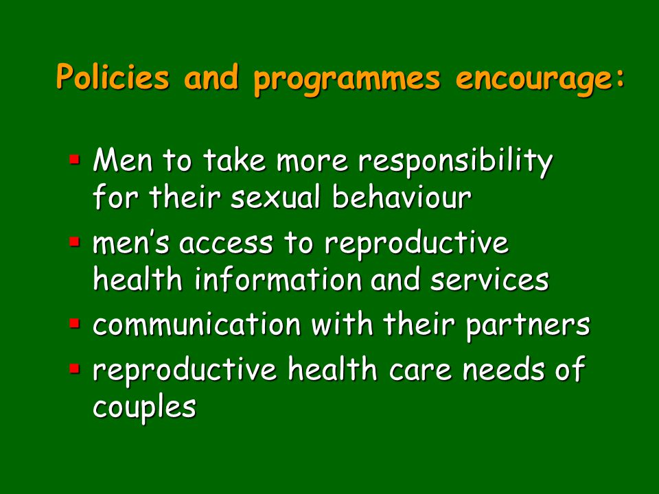 Policies and programmes encourage: