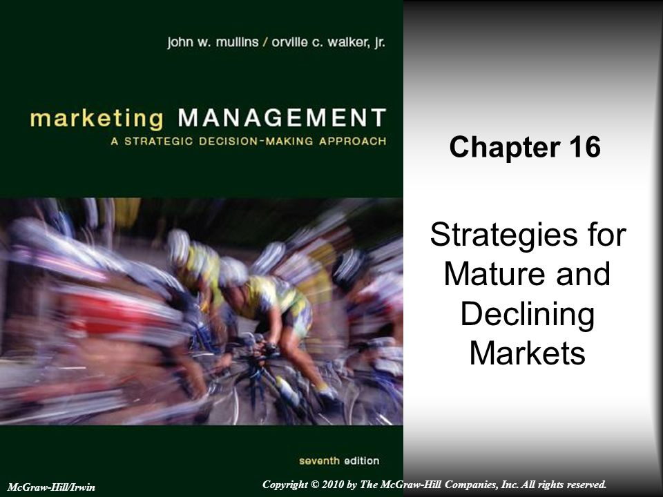 stratigies for declining market Strategies for mature markets maintaining share (eg, fortress defense, flanker brands, niche strategy) extending volume growth extended use (frequency, new applications) market expansion (market or product development) strategies for declining markets.