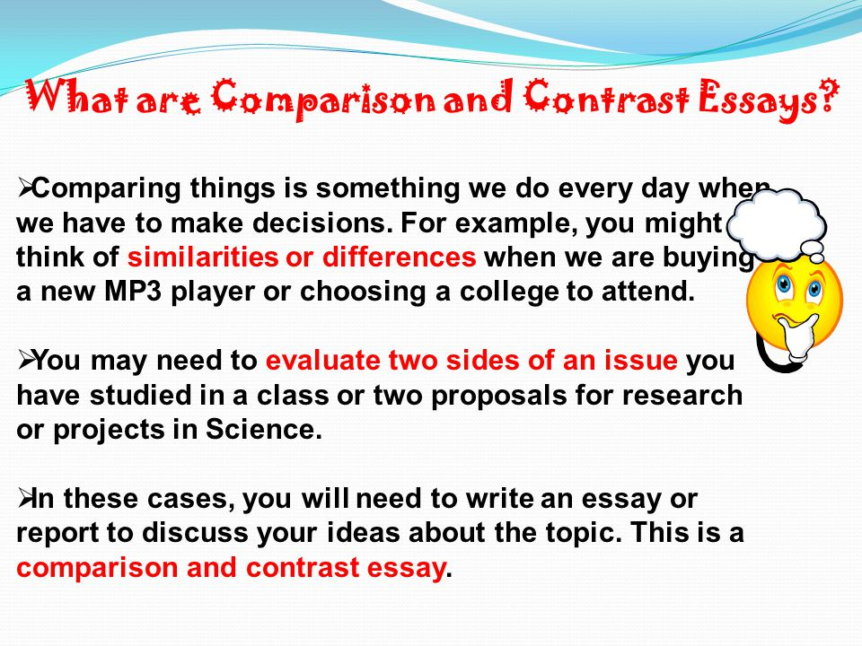Comparison And Contrast  Ppt Video Online Download What Are Comparison And Contrast Essays Reflective Essay English Class also Search Essays In English  An Essay On English Language