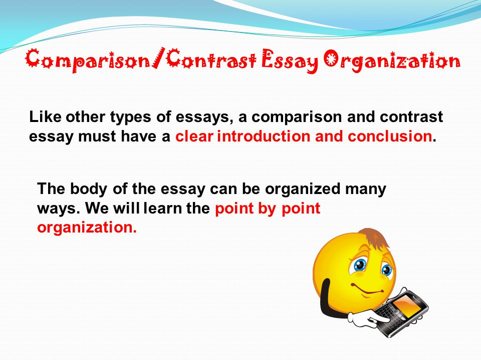 basics of a compare and contrast essay When writing a compare and contrast essay, the basic essay form of title, introduction, three paragraph body, and conclusion makes it one of the easiest essays to write before you begin writing, brainstorm to find similarities and differences between your subjects.