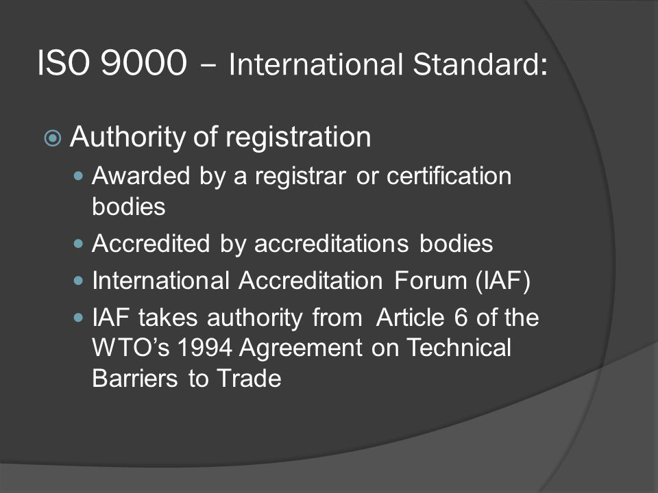 ISO 9000 – International Standard:
