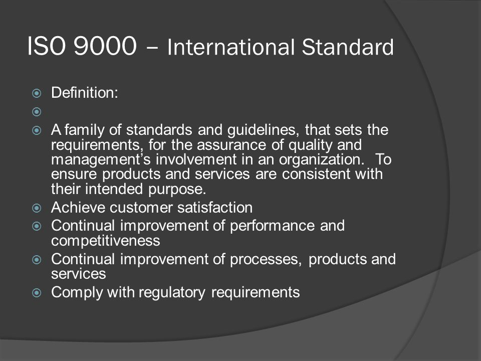 ISO 9000 – International Standard