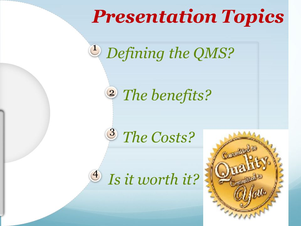 Implementing a Quality Management System - ppt video online download