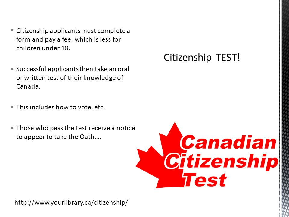 Becoming a Canadian Citizen Chapter 2 - ppt download