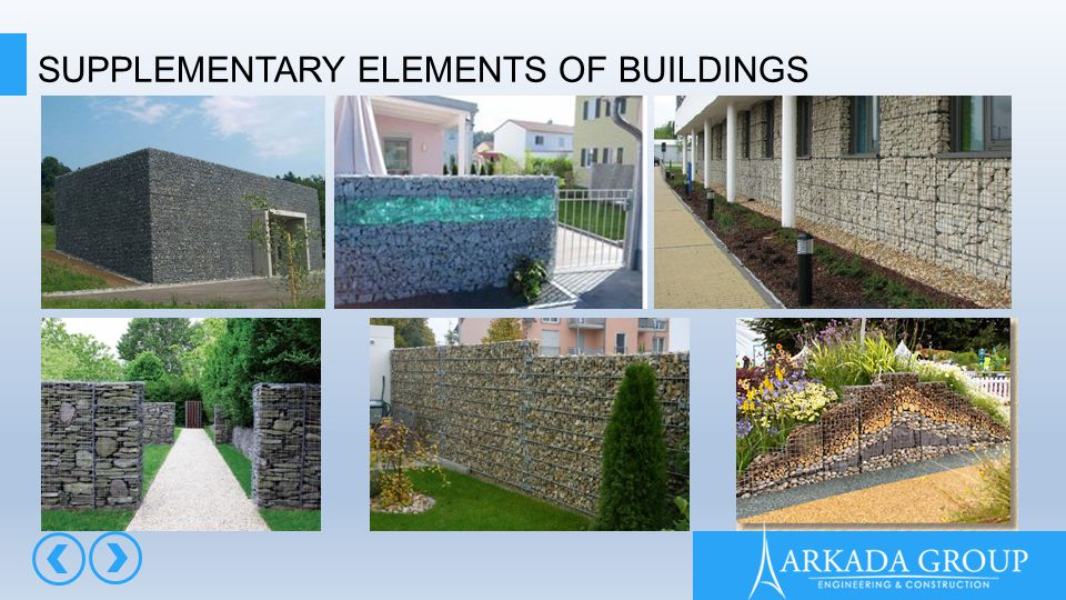 SUPPLEMENTARY ELEMENTS OF BUILDINGS