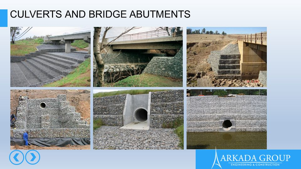 CULVERTS AND BRIDGE ABUTMENTS