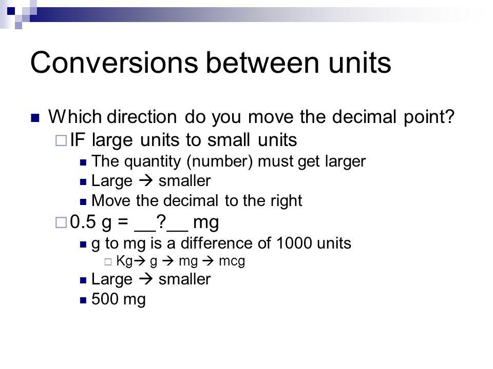 Dimensional Analysis For Meds Ppt Video Online Download