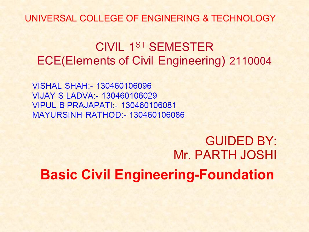 Basic Civil Engineering-Foundation