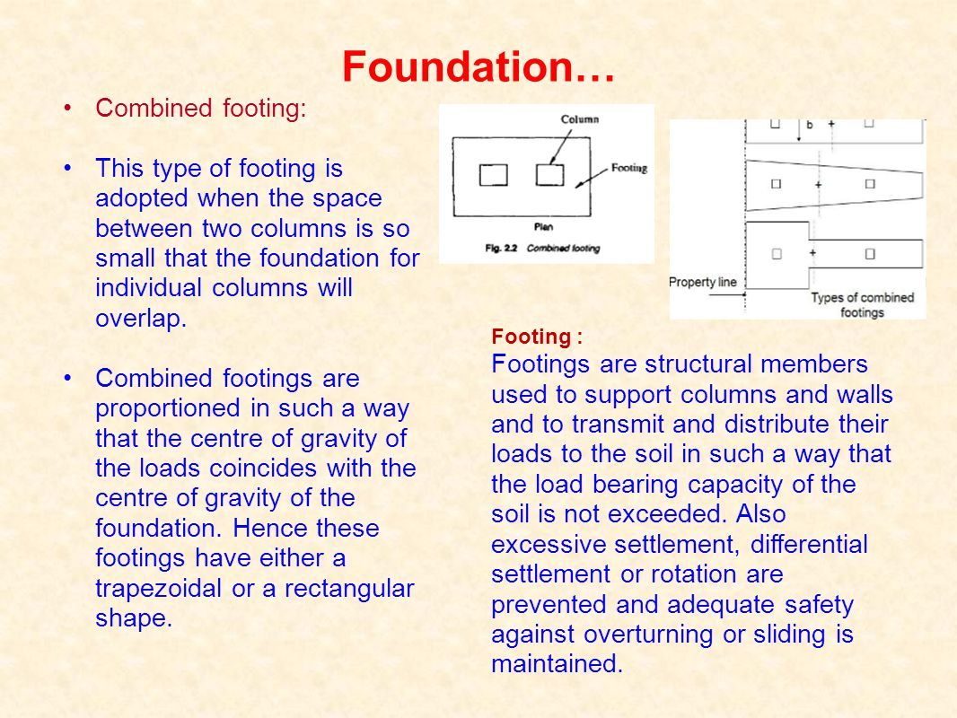 Foundation… Combined footing: