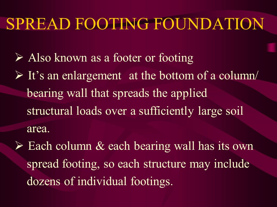 SPREAD FOOTING FOUNDATION