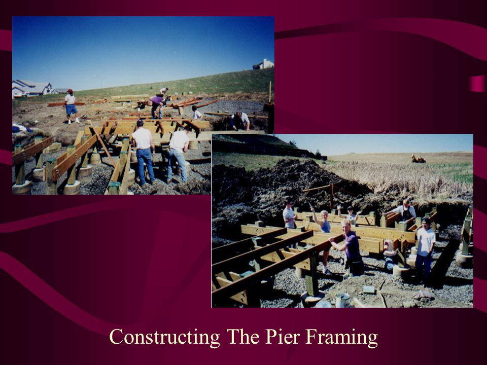 Constructing The Pier Framing