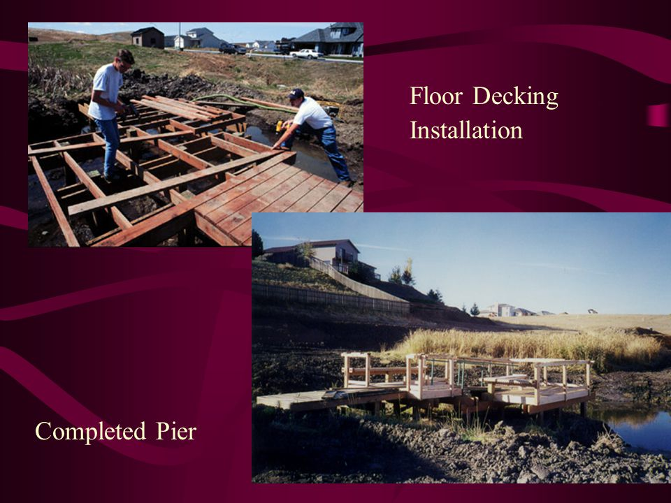 Floor Decking Installation Completed Pier