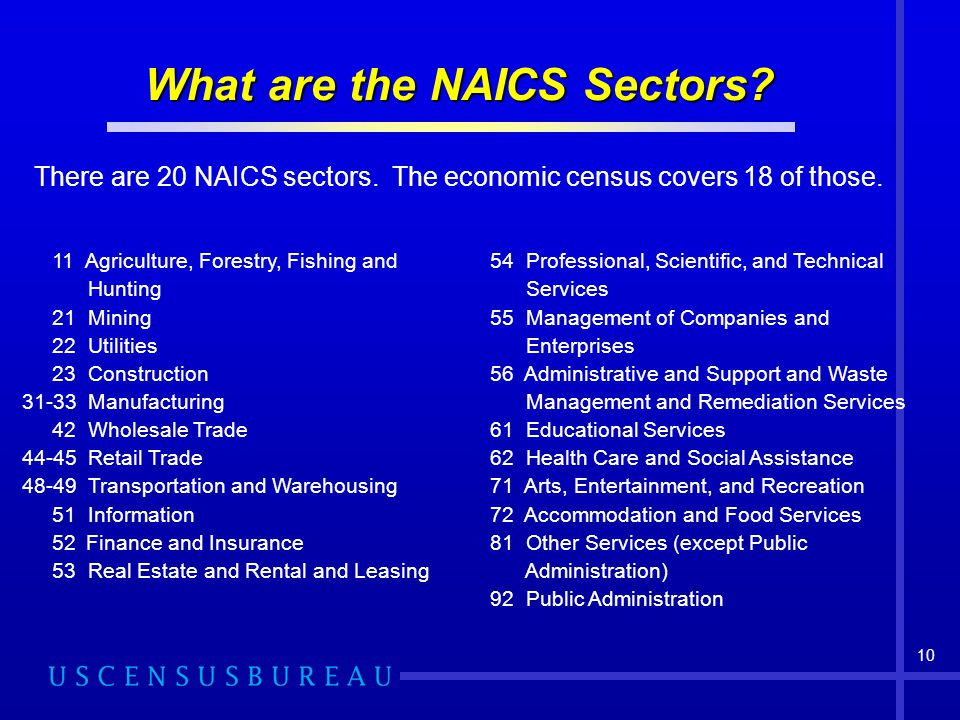 What are the NAICS Sectors