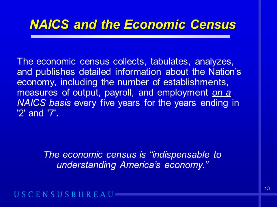 NAICS and the Economic Census