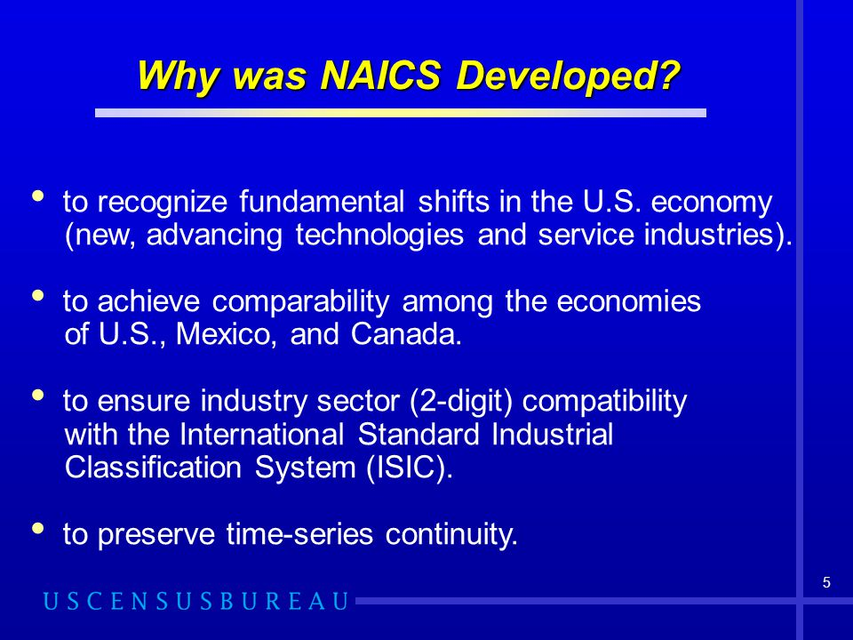 Why was NAICS Developed