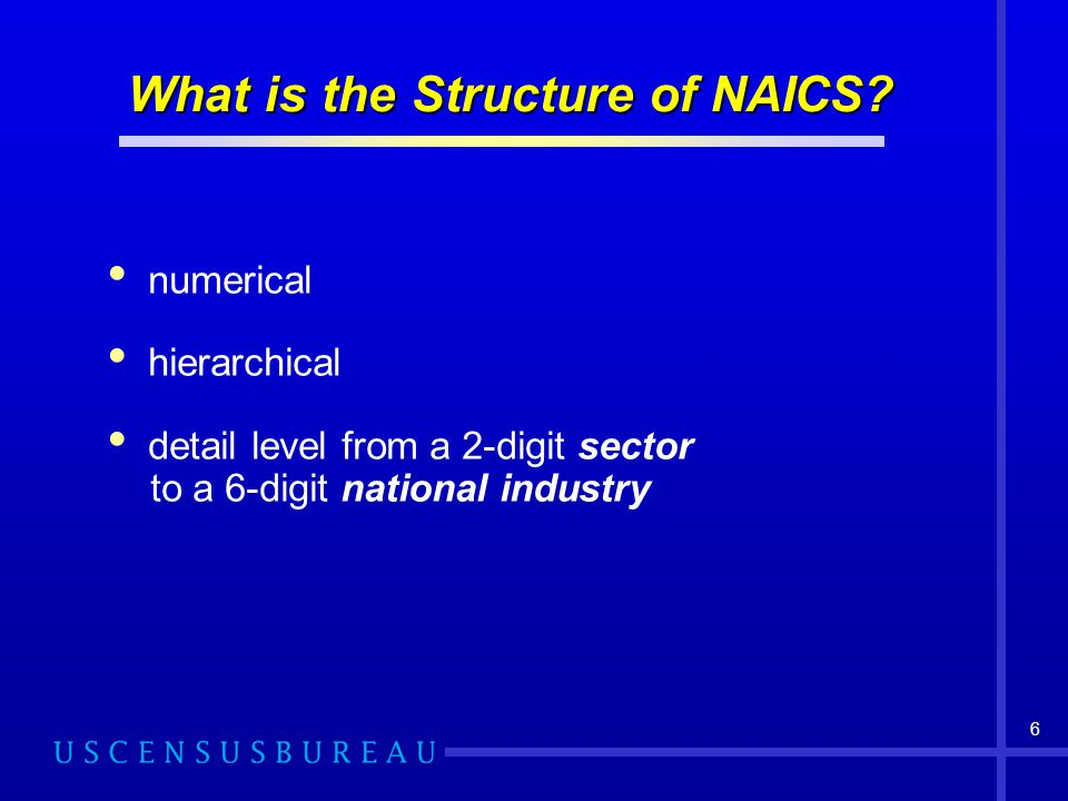 What is the Structure of NAICS