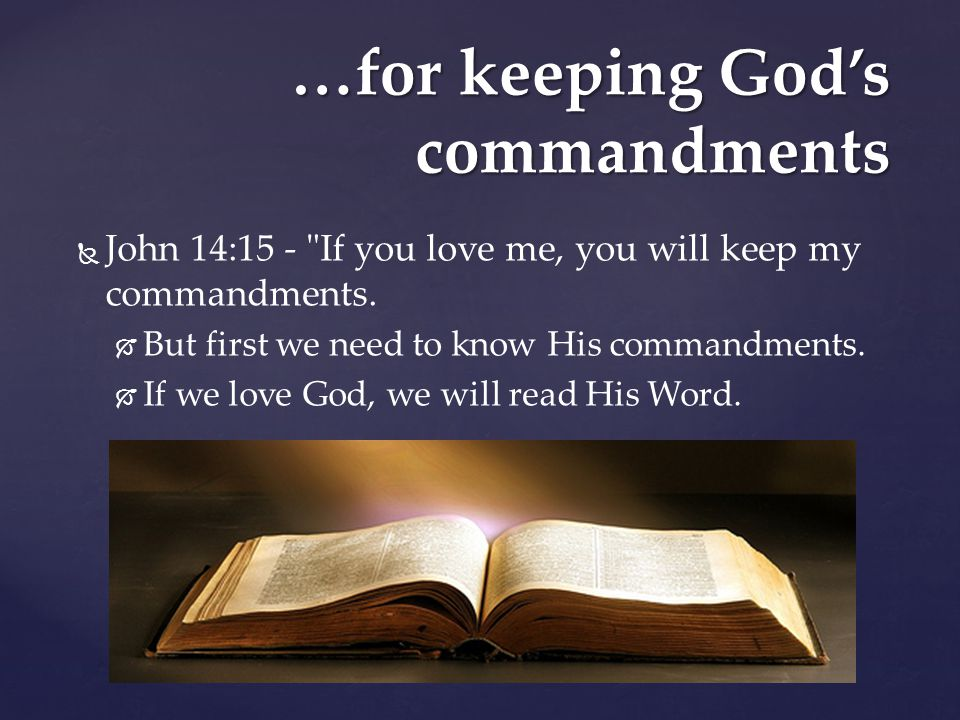Image result for pic if we love God keep His commandments